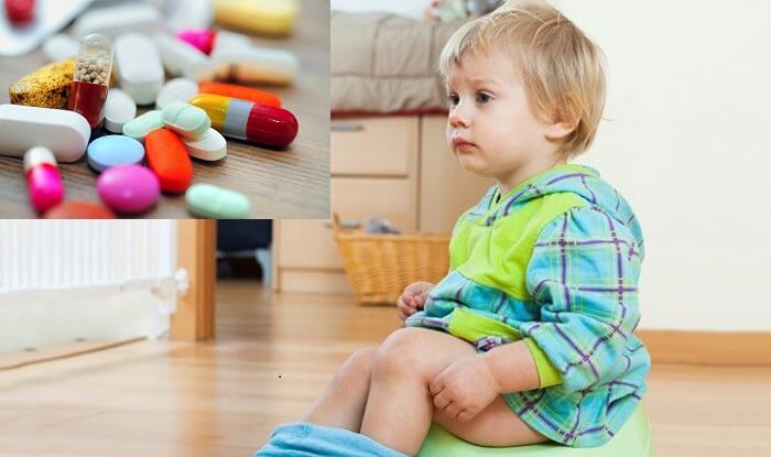 bé bị tiêu chảy khi uống kháng sinh