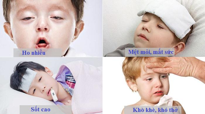 bé bị viêm phế quản sốt cao