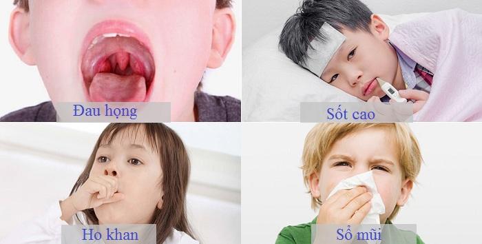dấu hiệu trẻ bị viêm họng
